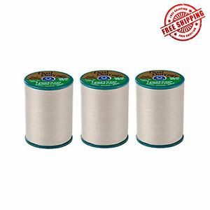 COATS-amp-CLARK-DUAL-DUTY-PLUS-HAND-QUILTING-EYEBROW-THREAD-228m-Pack-of-3-WHITE