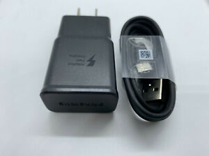 OEM Samsung Galaxy S8 S9 Plus Note 8 Original Fast Wall Charger 4FT Type-C CABLE