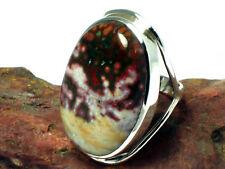 Big  OCEAN   JASPER   Sterling Silver   925  Gemstone  RING  -   Size : R