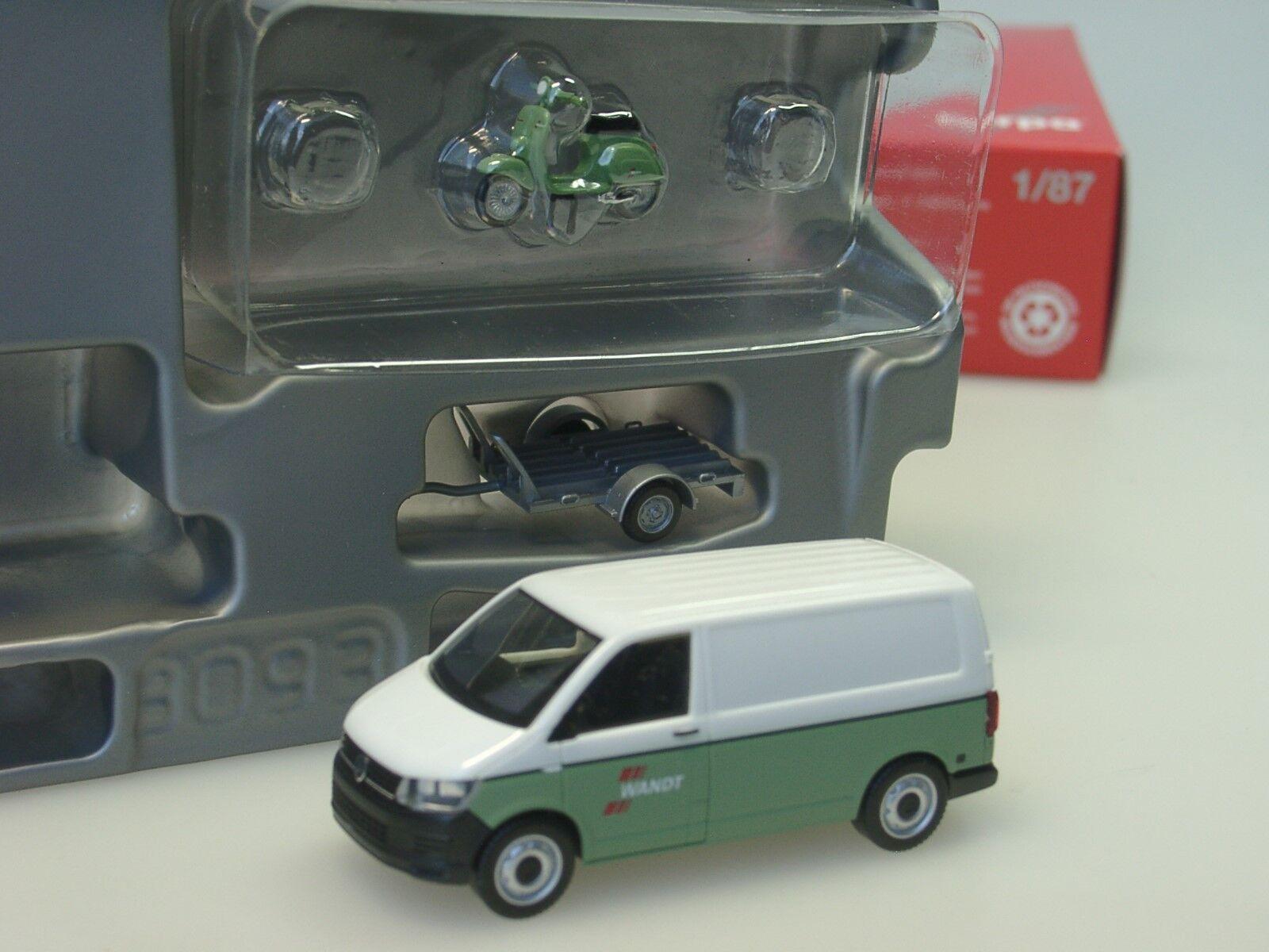 Herpa VW T6 Kasten mit Anhänger und Vespa  Spedition Wandt  - 092760 - 1 87  | Einfach zu bedienen