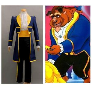 Beauty and the Beast Costume Adulte Cosplay Prince Adam Vêtements Fête Halloween