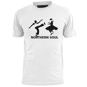 MENS MALE AND FEMALE DANCERS NORTHERN SOUL T SHIRT WIGAN CASINO MECCA TORCH