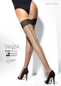 MOCK-SUSPENDER-Tights-ADRIAN-034-Tanzia-034-Imitating-Fishnet-Stockings-Back-Seam