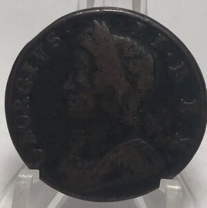 1731-Great-Britain-Half-Penny-Exquisite-Post-Colonial-Rare-Type