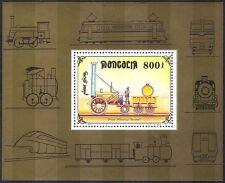 Mongolia 1997 Steam Engine/Rocket/Trains/Railways/Rail/Transport 1v m/s (s718)