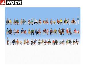 NOCH-N-38402-Mega-Spar-Set-Sitzende-60-Figuren-ohne-Baenke-NEU-OVP