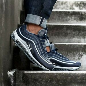 many fashionable usa cheap sale lace up in Nike Air Max 97 Minuit Marine / Blanc Gris Cool 918356 400 Tout ...