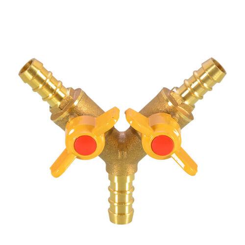 """Messing Kugelhahn Absperrventil  Doppelanschluss Schlauchanschluss G1//2/""""PN≤16Mpa"""
