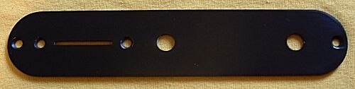 Guitar Parts - Telecaster TELE CONTROL PLATE - BLACK - USA Spec