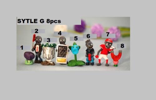 New Plants VS Zombies 8 Pcs  Mini-Figure Set  style G Figures ship from USA