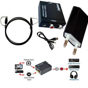 3-5mm-Ottico-Digitale-Coassiale-Toslink-SPDIF-a-RCA-analogico-Convertitore-Audio