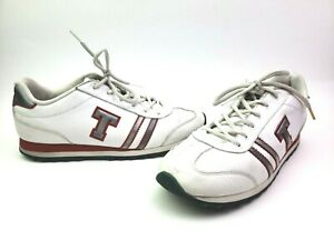 vintage tommy hilfiger casual white sneakers leather shoes