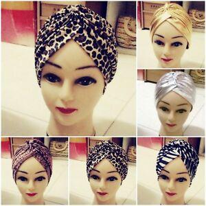 Women-Lady-Headband-Turban-Head-Wrap-Band-Chemo-Bandana-Hijab-Pleated-Indian-Cap