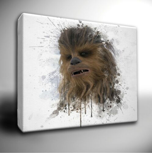 Choose your Star Wars Characters paint splatter CANVAS Art Picture Prints