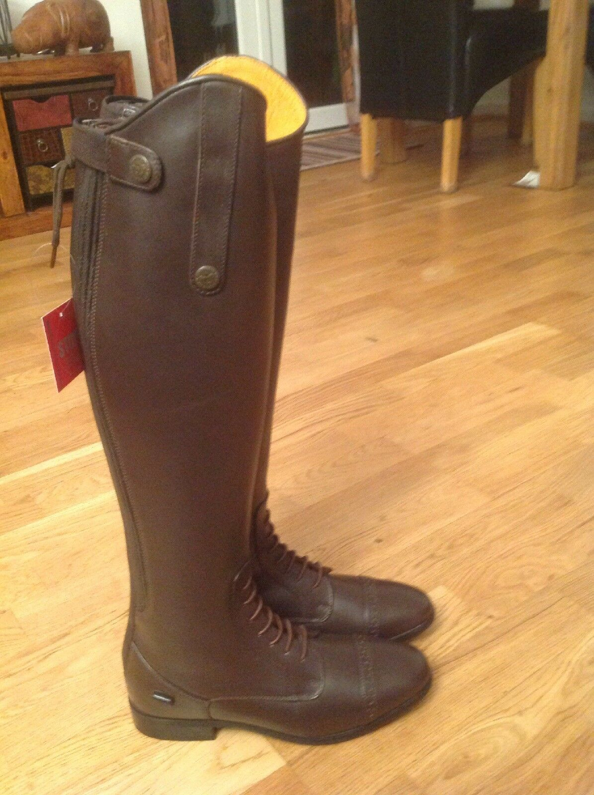 Brown HKM Valencia Leather Field Boots Size 5 Euro