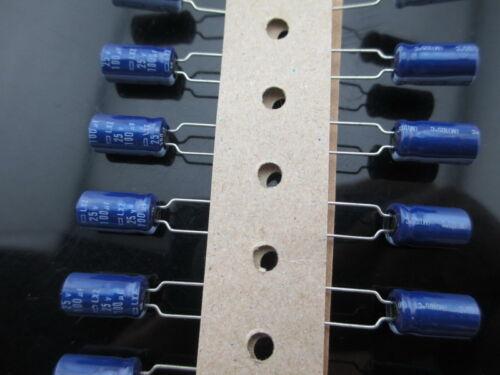 80pcs NCC Nippon Chemi-Con LXZ 100mfd 25v 100uf  electrolytic Capacitor caps