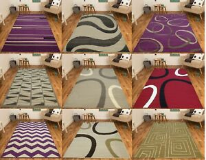 MODERN CONTEMPORARY RUGS MAT SMALL LARGE RUNNERS PATTERNED FLORAL GEOMETRIC SOFT