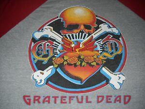 GRATEFUL-DEAD-RICK-GRIFFIN-SKULL-STANLEY-MOUSE-BLUE-ROSE-1980-CONCERT-T-SHIRT-L
