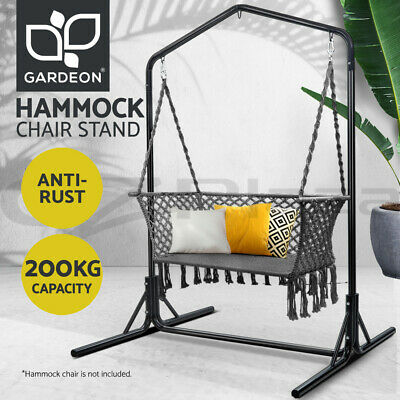 Gardeon Hammock Chair Stand Steel Frame 2 Person Double Outdoor