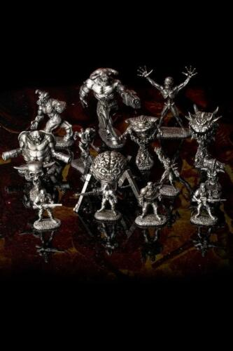 DOOM Reaper Miniature Peltro Figure Set 15 Pezzi//W DOOM BOX-NUOVO Bethesda RARO