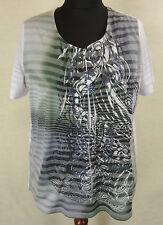 Tolles BONITA Print Stretch Shirt, Top Baumwolle Lagenlook multicolor Gr. XL+