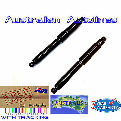 2 Mitsubishi Challenger PA 4WD HD Rear Shock Absorbers Leaf Spring Std Raised