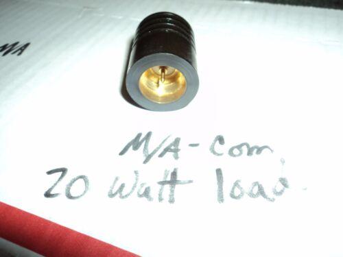 Dummy Load N Male Termination MA-44001 M//A-COM 20 WATT Type