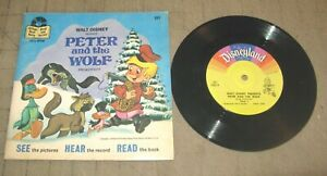"""1978 PETER And THE WOLF Book & Record Set - Disneyland 33 & 1/3 - 7"""" Record"""