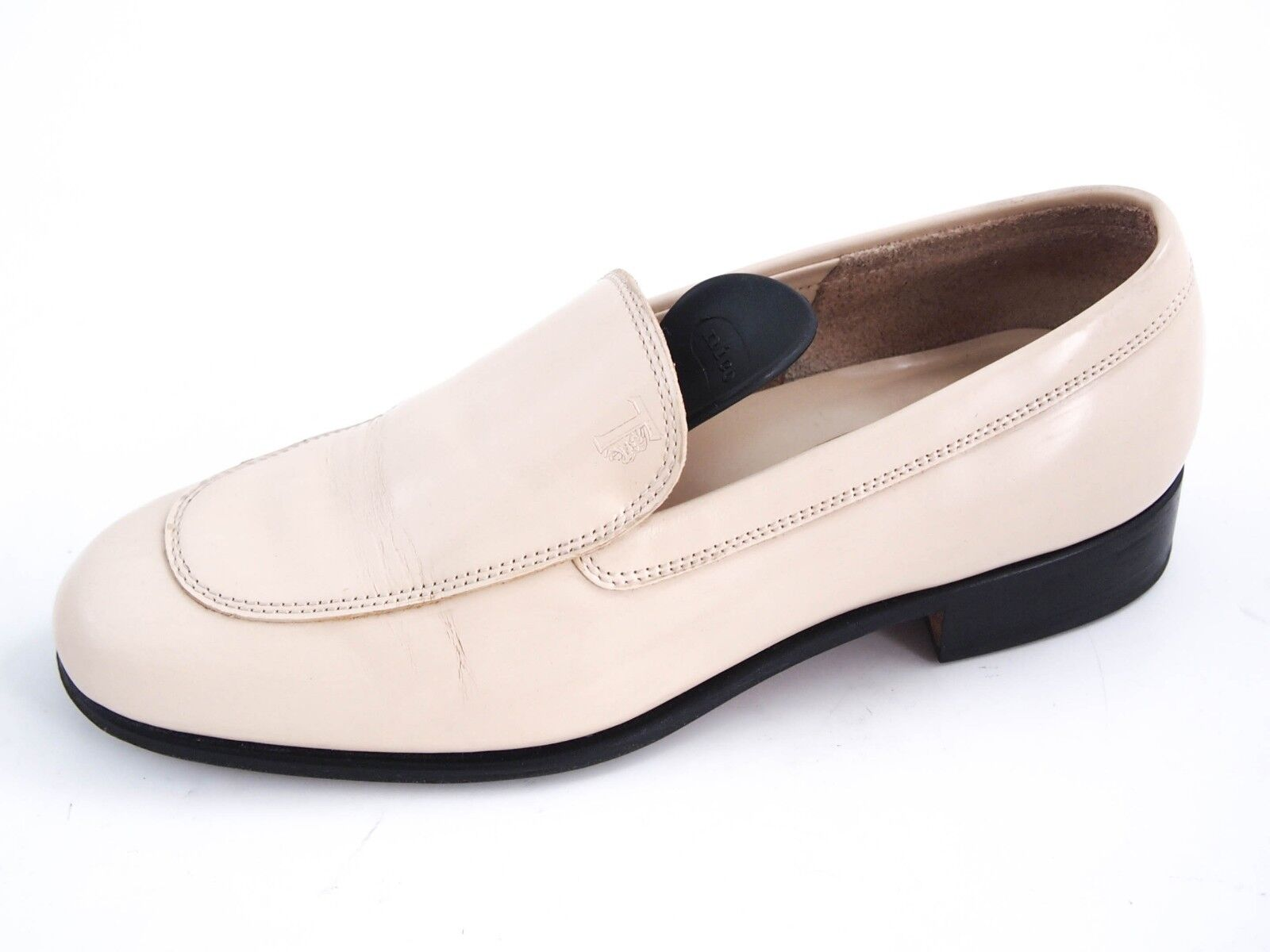 TOD's moccasin loafers, ivory patent leather, women's size, EU EU EU 36.5 US 6.5  480 a8a94c