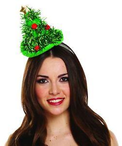 Femme Mini Guirlandes Arbre De Noël Serre-tête Chapeau Femmes Babiole Vert Noël Chapeau-afficher Le Titre D'origine Un RemèDe Souverain Indispensable Pour La Maison