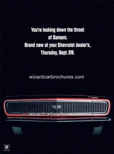 1967 CHEVROLET CHEVY CAMARO 350 A3 POSTER AD SALES BROCHURE ADVERTISEMENT ADVERT
