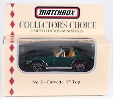 """Matchbox Collector's Choice No.7 Corvette """"T"""" Top 1:64 New In Box 1994"""