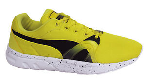 PUMA TRINOMIC XT S Mens GIALLO Scarpe da ginnastica corsa stringate 359872 02