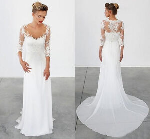 chiffon and lace wedding dresses