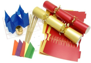10 x make your own large 14 35cm christmas cracker kits red image is loading 10 x make your own large 14 35cm solutioingenieria Images