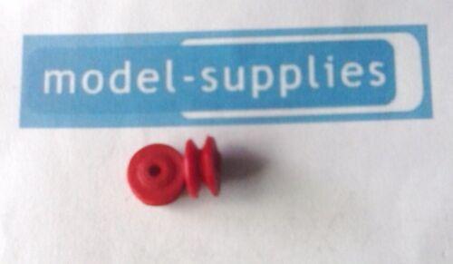 Dinky REPRO Camión De Carretera Hubs-Single Fine Pat par De Plástico Rojo-como AEC//TK