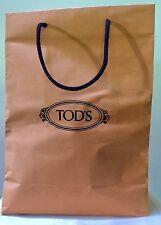 Tod's Tods Paper Shopping Bag Brown Yellow Black Logo Large Decor Storage