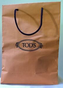 ad89ae76ff0 Tod's Tods Paper Shopping Bag Brown Yellow Black Logo Large Decor ...