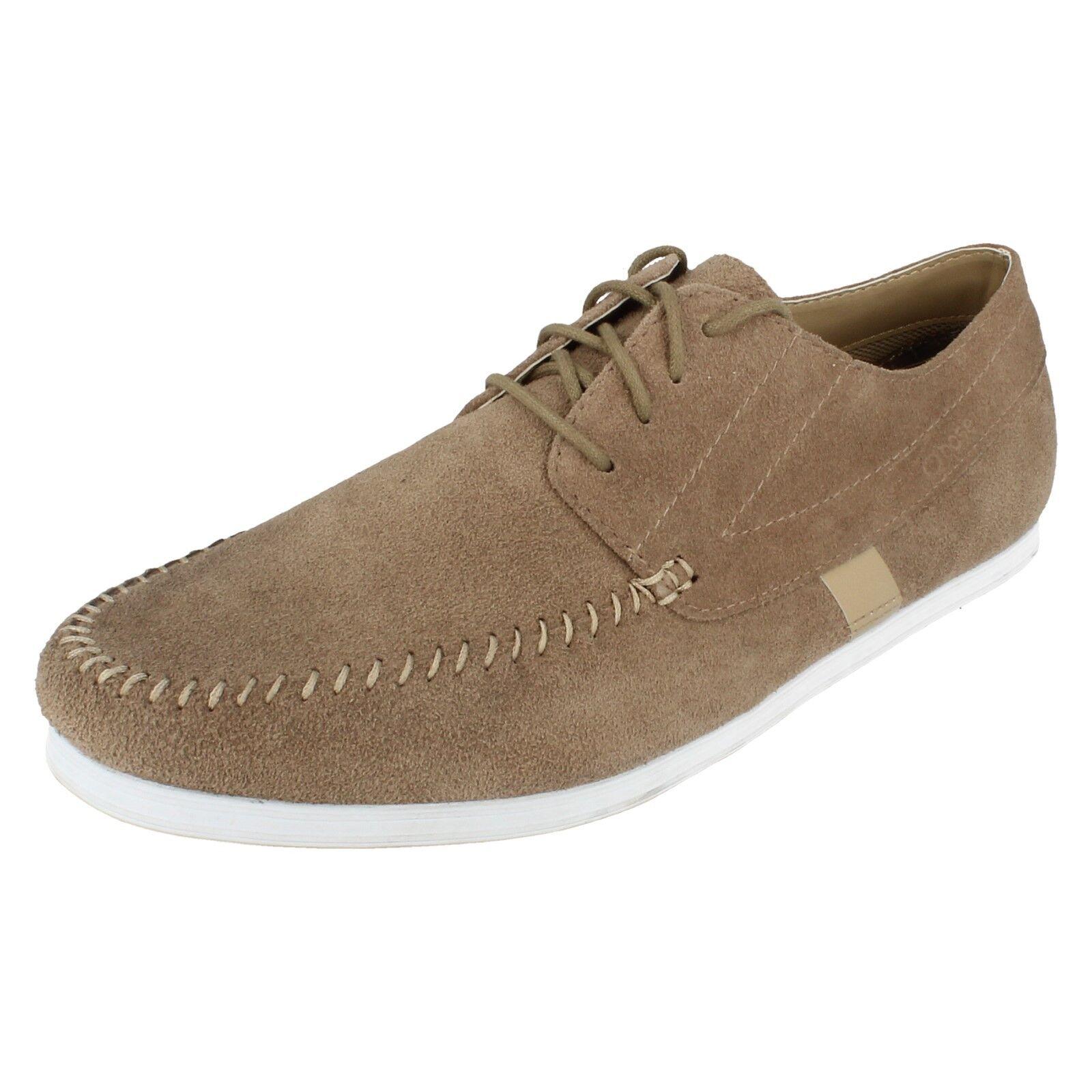 SALE Mens Base London beige suede lace up shoes STYLUS