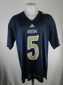 release date e184b 9a68f Details about NCAA Notre Dame Fighting Irish #5 Men's Football Jersey XL  2XL Navy