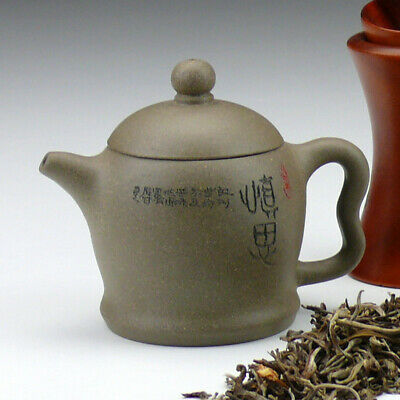 """Yixing Teekanne /""""Weiser Entschluss/"""" Pao Zhun Form chinesische Kanne Teezermonie"""