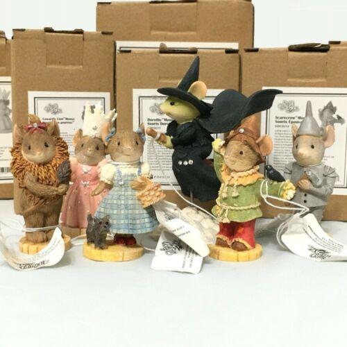 New Karen Hahn Dept.56 Tails With Heart WIZARD OF OZ MICE 6 resin figurines
