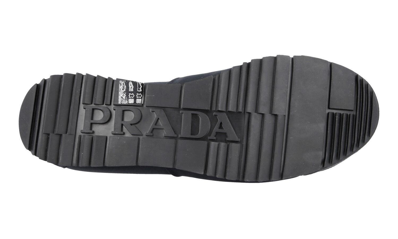 shoes PRADA LUXUEUX 4E2719 blue NOUVEAUX 8,5 8,5 8,5 42,5 43 0bb8fd