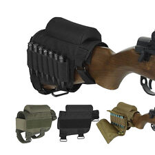 Tactical Buttstock Rifle Cheek Rest Pouch Holder with Ammo Carrier Cartridge bag