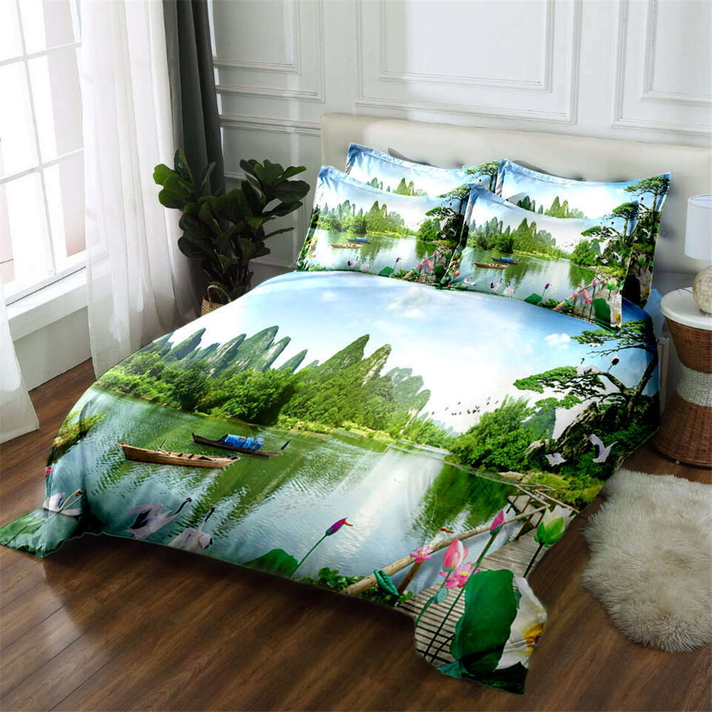 Forceful Mountain 3D Printing Duvet Quilt Doona Covers Pillow Case Bedding Sets