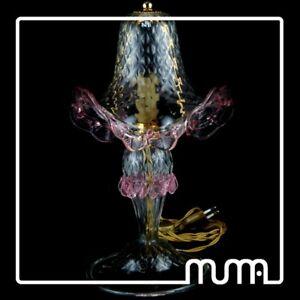 Promozione-classici-lampada-abatjour-in-vetro-di-Murano-trasparente-e-rosa