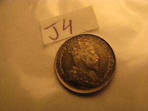 Canada-1902-No-H-5-Cent-Silver-Coin-ID-J4