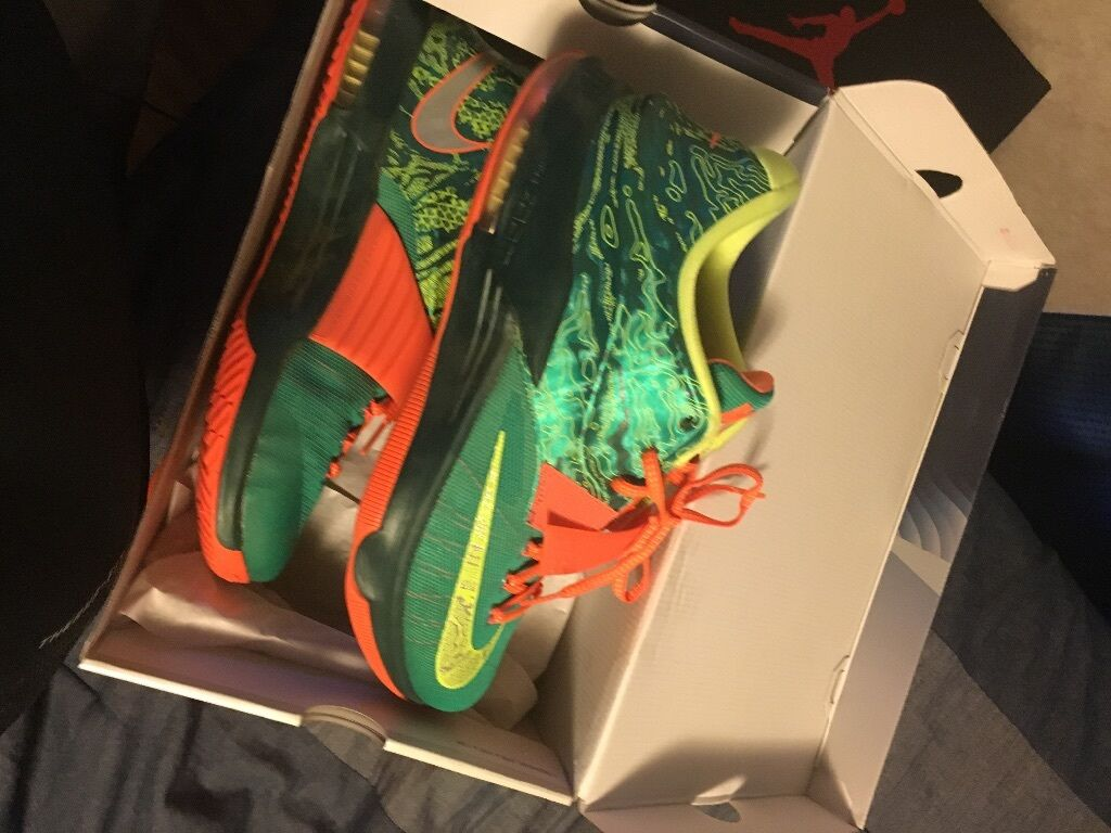 Green and orange Kevin durant size 12