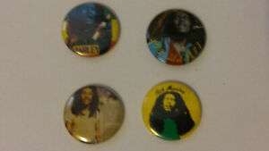 Bob-Marley-reggae-music-buttons-vintage-SMALL-BUTTON-set-2