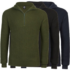 Brandit-Navy-Sweater-Troyer-US-Army-Military-Sailor-Sweater-New